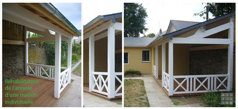 annexe charpente bois maison architecte nantes