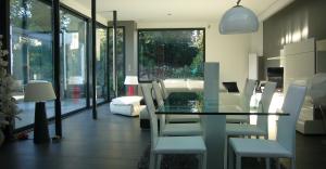 décoration salon lumière agrandissement maison architecte nantes