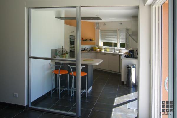extension traditionnelle sautron vm architecte. Black Bedroom Furniture Sets. Home Design Ideas