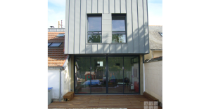extension bois zinc agrandissement architecte nantes