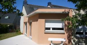 vue sud est Extension traditionnelle maison 2014 architecte nantes