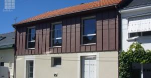 Surelevation bois et zinc pigmento architecte dplg nantes